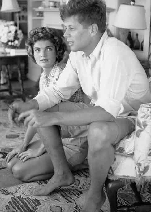 John F. Kennedy and fiance Jacqueline Bouvier in June 1953 in Hyannis Port, Massachusetts. (Photo by Hy Peskin/Getty Images)