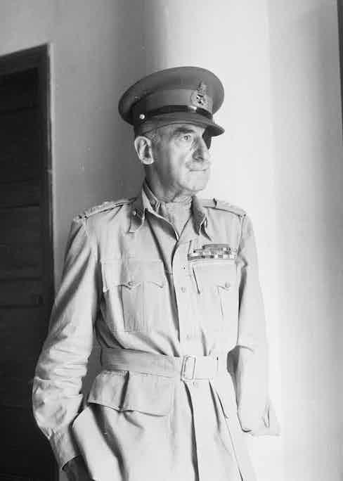 Adrian Carton de Wiart during World War II, photographed by Cecil Beaton.