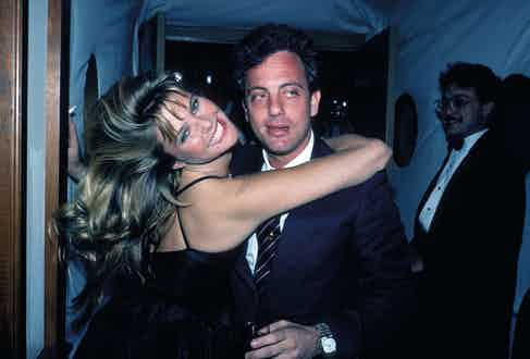 With his second wife Christie Brinkley in 1983.