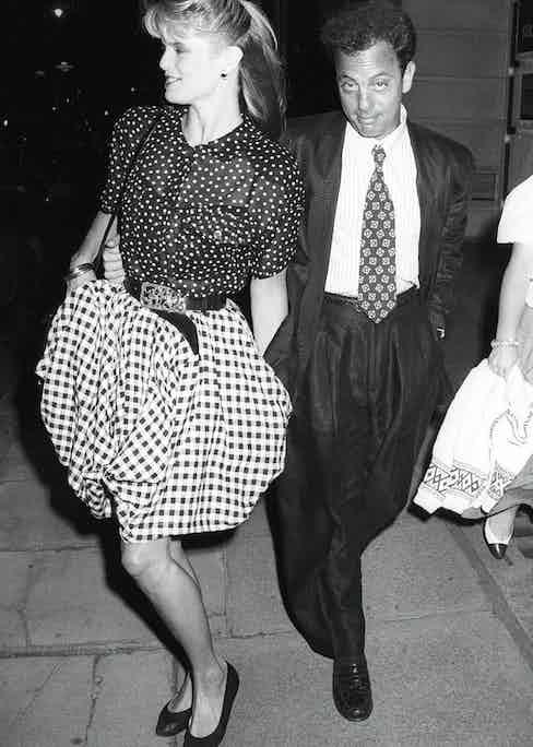 Joel with Christine Brinkley in 1987.