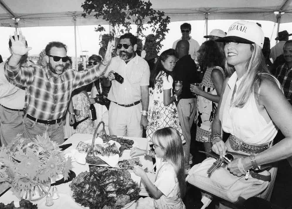Joel with his daughter Alexa and wife Christie Brinkley at the Hampton Classic in 1993.