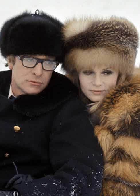 Michael Caine and Francoise Dorleac in Billion Dollar Brain (1967).