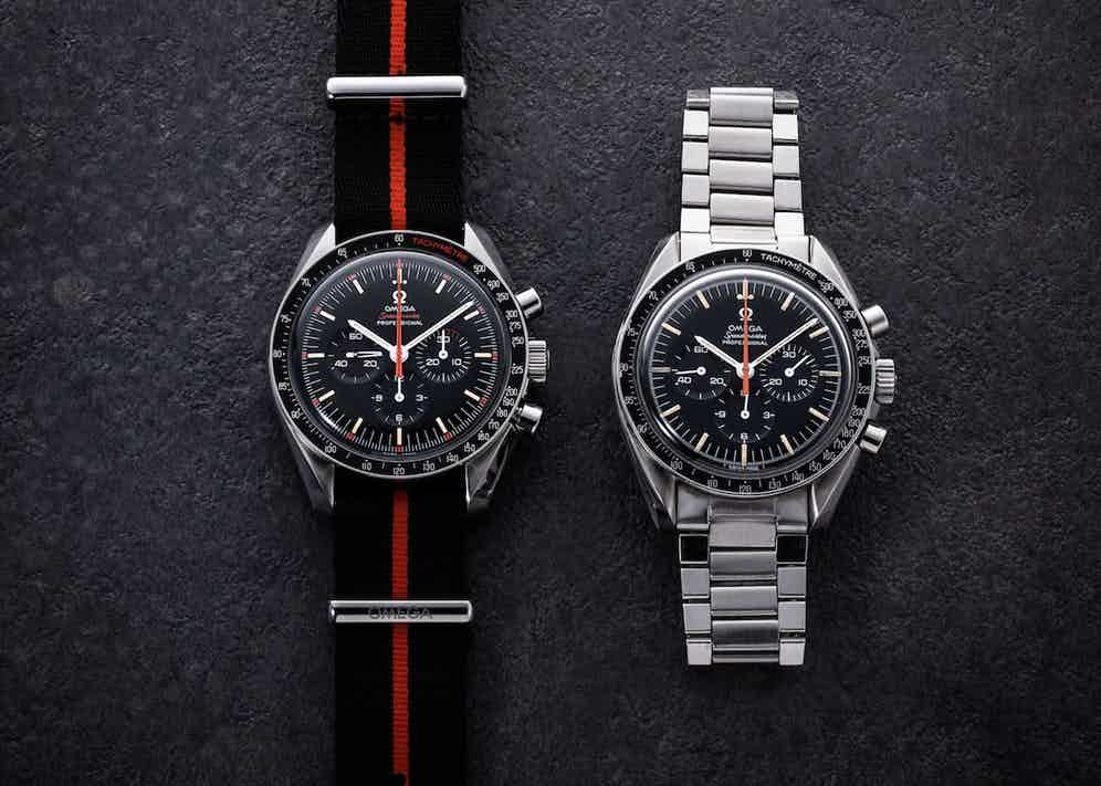 """In 2018, Omega launched a homage to the 1968 watch with the Speedmaster Limited Edition 42 Mm """"Ultraman"""" (2012 pieces); the watch was given many curious details, such as the orange silhouette of Ultraman on the 9 o'clock subdial, only visible under UV light. Also the The 1968 Omega Speedmaster """"Ultraman"""" is a rare bird that was given its nickname by collectors who spotted it in the Japanese science fiction TV show """"The Return of Ultraman"""" in 1971."""