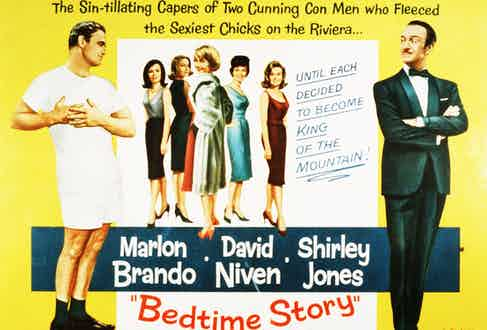 Marlon Brando, David Niven Bedtime Story - 1963. Photo by Universal/Kobal/Shutterstock (5873979e