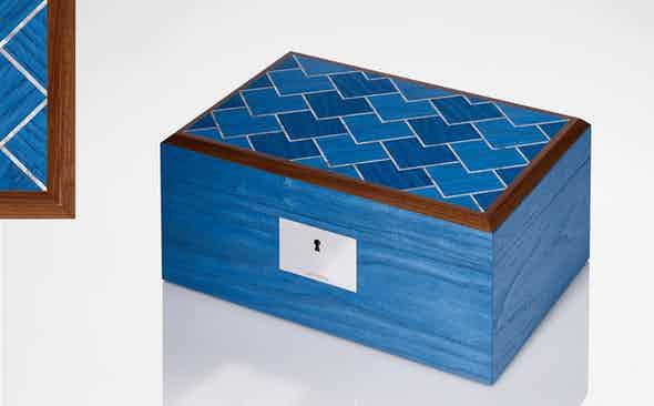 Linley donate Azure Vermillion Jewellery Box to Revolution x The Rake Covid-19 Solidarity Auction.