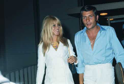 Brigitte Bardot and Gunter Sachs, leave Los Angeles International Airport. (Photo courtesy of Getty Images)