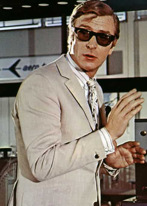 Michael Caine in Curry & Paxton Yvan sunglasses.