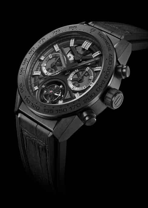 The 2016 launch version of the Heuer 02T Black Phantom Limited Edition, which was issued in a limited number of 250 pieces