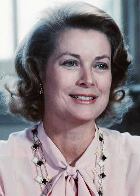Princess Grace of Monaco visits Edinburgh, on her heck clearly seen is an Alhambra necklace. EDINBURGH, SCOTLAND - 1979: Princess Grace of Monaco attends a poetry reading in Edinburgh, Scotland. September 13, 2007 is the 25th anniversary of the death of Princess Grace of Monaco (former film star Grace Kelly). (Photo by Anwar Hussein / Getty Images) Photo: Anwar Hussein