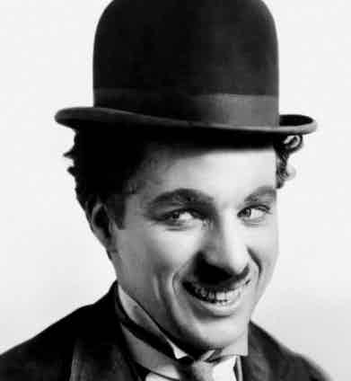 Charlie Chaplin in its famous attire