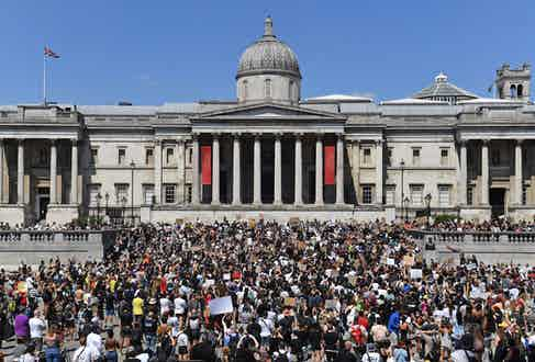 Protest In Trafalgar Square, London (Photo by Dominic Lipinski/PA Images via Getty Images)