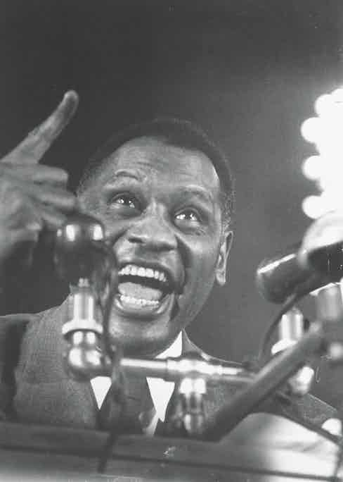 Paul Robeson speaking at rally against Mundt-Nixon bill. (Photo by Leonard Mccombe/The LIFE Images Collection via Getty Images/Getty Images)