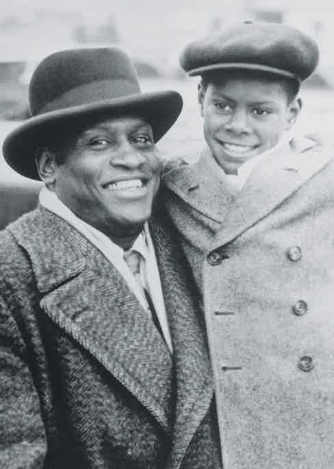 Paul Robeson hugging his son Paul Jr. (Photo courtesy of Getty Images)