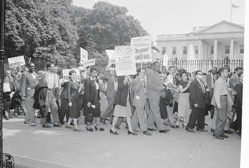 Paul Robeson Marching with Picketers at Capitol (Photo courtesy of Getty Images)