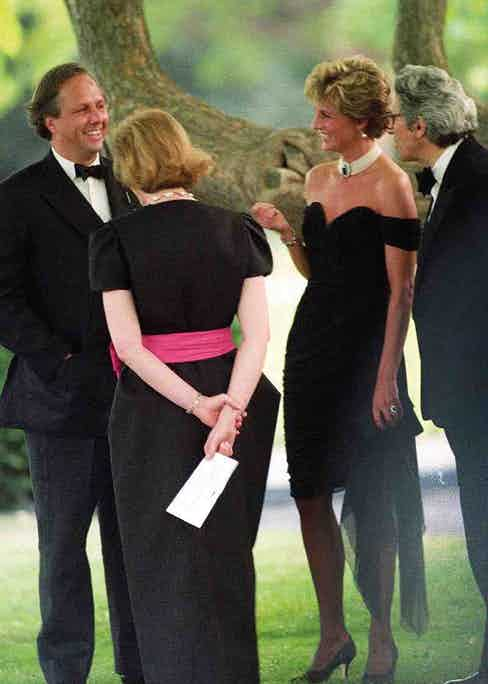 Graydon Carter with Princess Diana in Hyde Park, 1994. Photo by Alan Davidson/Shutterstock (7529534i)