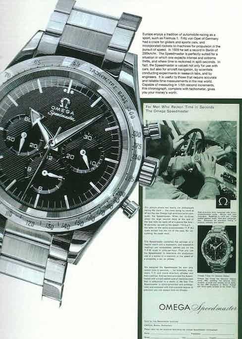 Vintage ads for the Omega Speedmaster