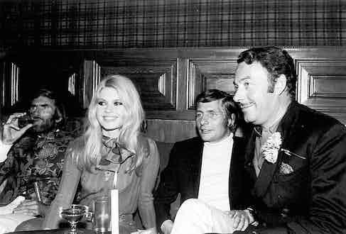 Brigitte Bardot and Gunter Sachs.