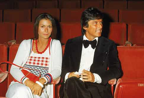 The actress Kate Jackson and Evans at the 45th Annual Academy Awards, 1973 (Photo courtesy of Getty)