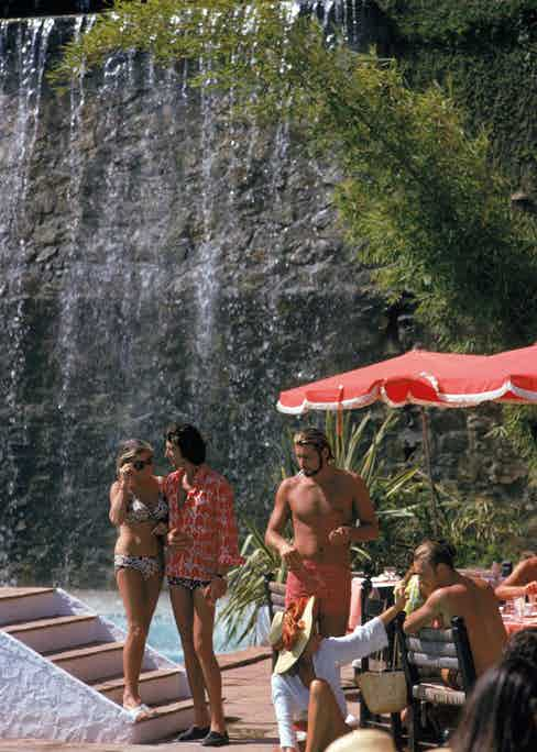 Bathers at the Marbella Club, Marbella, Spain, September 1970. (Photo by Slim Aarons/Hulton Archive/Getty Images)