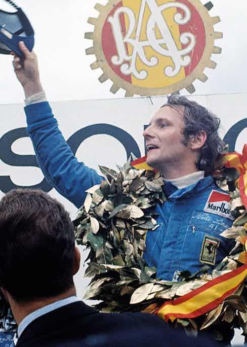 Niki Lauda, Grand Prix of Spain, Jarama, 28 April 1974. (Photo by Bernard Cahier/Getty Images)