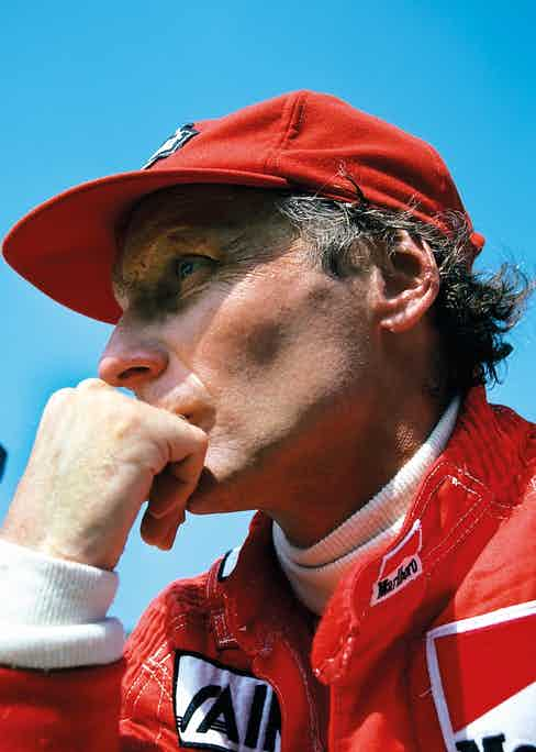 Niki Lauda, Grand Prix of Italy, Monza, September 1985. (Photo by Paul-Henri Cahier/Getty Images)