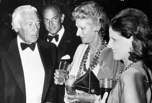 Giovanni Agnelli, Oscar de la Renta, Pier Agnelli and Annette Reed (Photo by Ron Galella/WireImage)