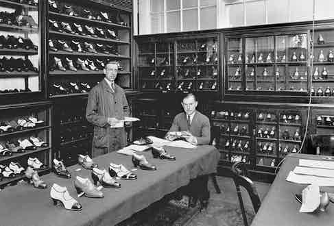 A showroom, with Percy Jones, circa 1920