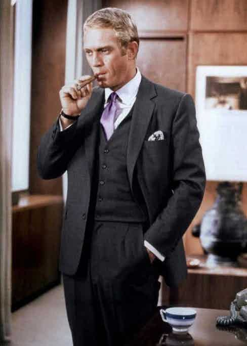 McQueen's wardrobe in the 1968 film, The Thomas Crown affair is considered one of the most empowering intersections between masculinity and sartorial expression ever captured by the camera's lens.