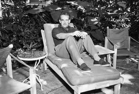 Prince Rainier relaxing on lounge chair Image by © Bettmann/CORBIS