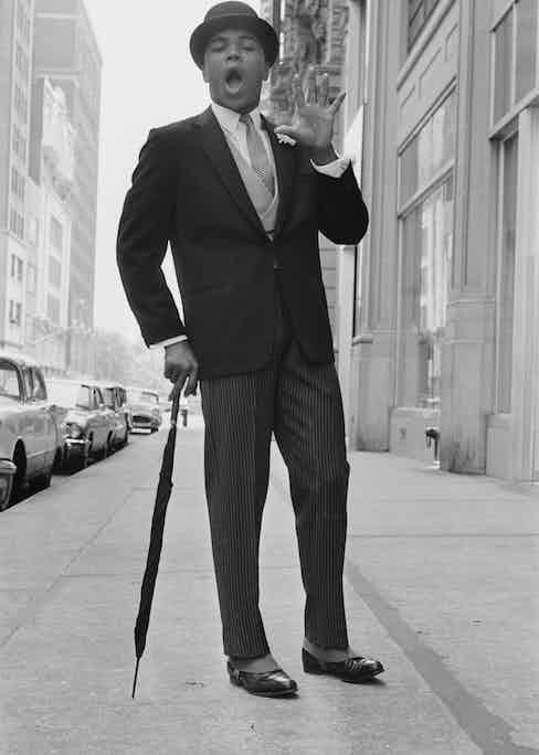 Muhammad Ali on 60th Street and Broadway in New York, 1963 (Photo courtesy of Getty Images)