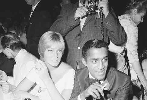 With Britt at the Cocoanut Grove club in Hollywood, 1961