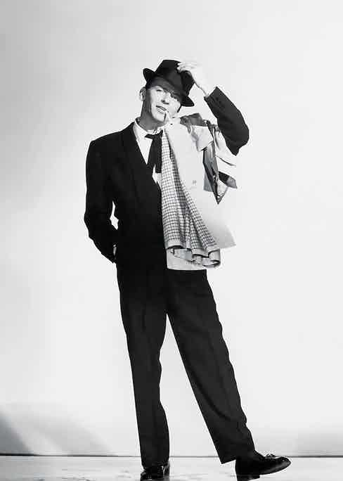 Frank Sinatra poses for a publicity still for the movie Pal Joey in Los Angeles, 1957 (Photo by Donaldson Collection/Getty Images)