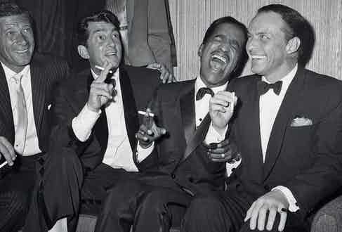 Jan Murray with Rat Pack members Dean Martin, Sammy Davis Jr., and Sinatra at Carnegie Hall. (Photo courtesy of Getty Images)