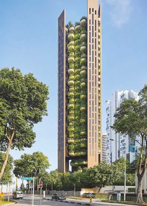 The 22-storey building offers 20 exclusive apartments with high degree of privacy