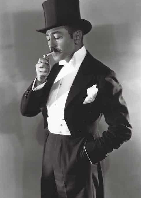 Photo by George Hurrell/MGM/REX/Shutterstock (5873578e) Adolphe Menjou Menjou, Adolphe - 1930 MGM Portrait