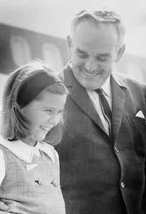 Prince Rainier and daughter (Image by © Bettmann/CORBIS)
