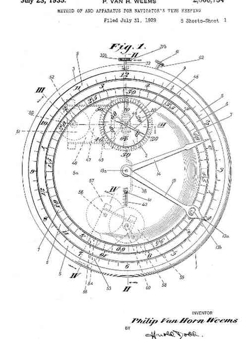 US Patent 2008734 for the rotating bezel (Image TBWS)