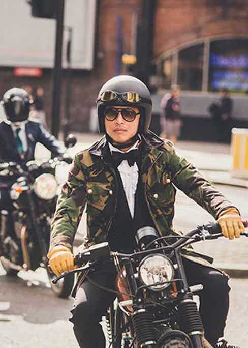 Wei Koh during the 2015 Distinguished Gentleman's Ride