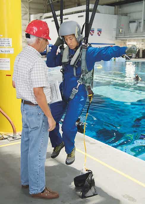 Dr. Jonny Kim in astronaut training. (Photo by David DeHoyos)