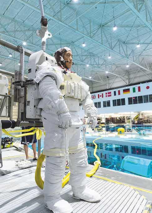 Dr. Jonny Kim in astronaut training. (Photo by Robert Markowitz)