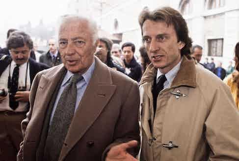 Gianni Agnelli and Luca di Montezemolo (Photo courtesy of Alamy)