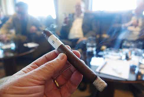 The blend No.1 cigar, tested in Basel;
