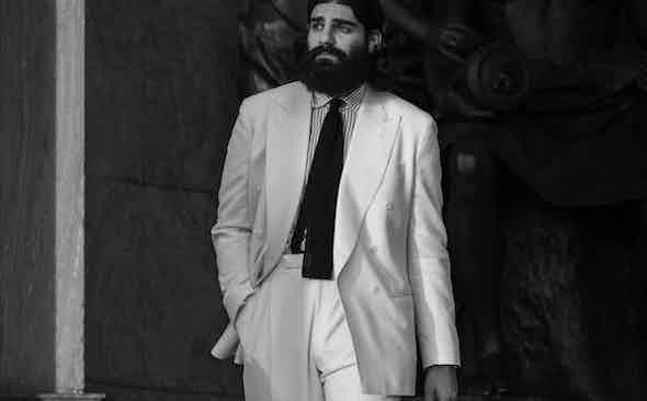 Milad Abedi Wears The Rake Tailored Garments