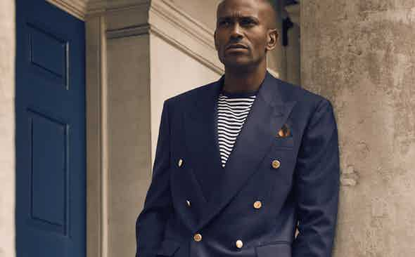 The Rake Tailored Garments: Navy Double-Breasted 4-Ply Blazer