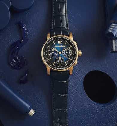 Code 11.59 by Audemars PiguetSelfwinding Chronograph 18-carat pink-gold case, white-gold bezel.