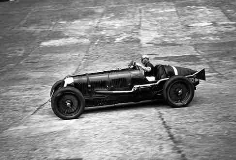 Sir Henry Birkin making a lap record in his car at Brooklands race track, Surrey. Photo by Popperfoto via Getty Images/Getty Images.