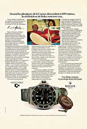 A 1972 advert about world records achieved with the diving operations firm Comex.