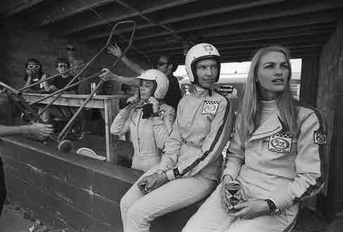 Donna Mae Mims, Janet Guthrie and Liane Engeman at the annual Sebring 12-hour endurance race in 1969.
