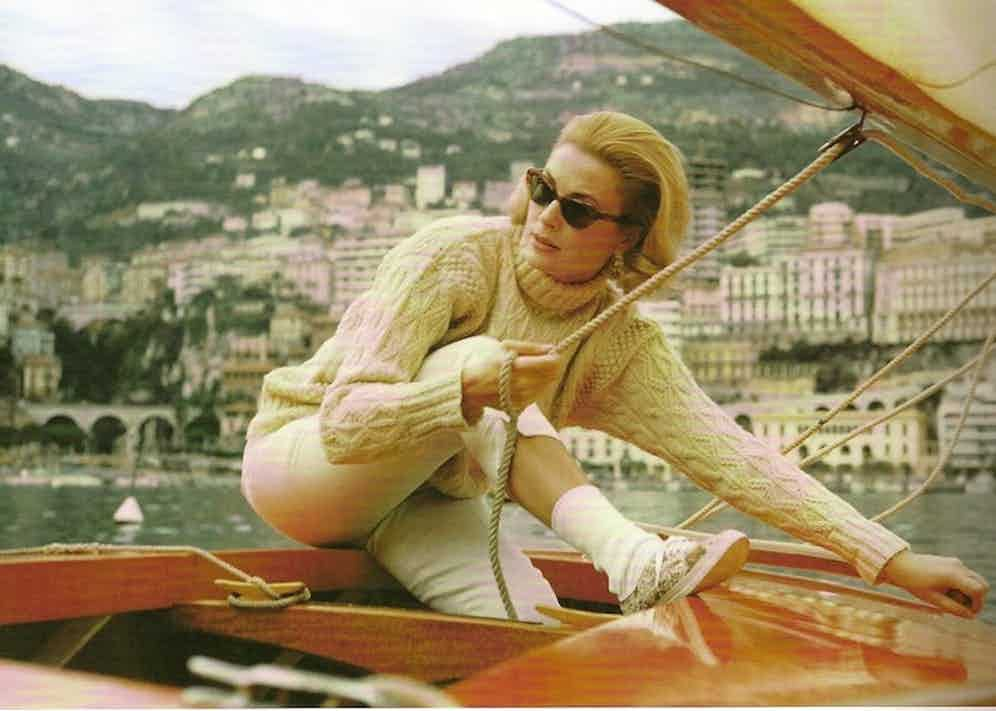 Grace Kelly in iconic McGeorge knit in Monaco