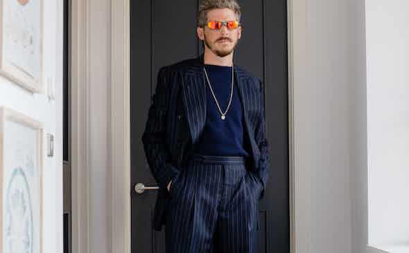 Robert Spangle dons The Rake Tailored Garments